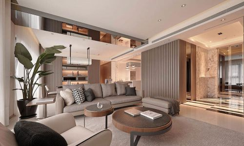 华丽现代风格客厅沙发效果图大全