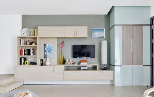 时尚现代风格客厅实用储物柜装修效果图