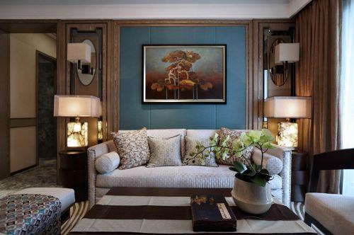 精致文雅现代中式风格客厅装修实景图