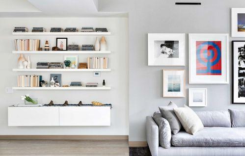 白色文雅现代风格客厅装修设计