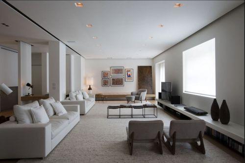 大气开放式现代风格客厅装修设计