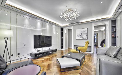 银色76平两居室现代风格客厅效果图
