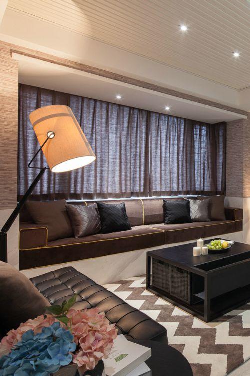 现代风格客厅窗帘装修效果图