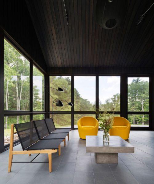 简洁轻奢现代风格客厅个性沙发效果图