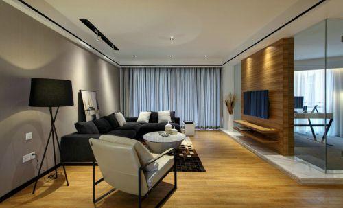 雅致原木色现代风格客厅装修图片