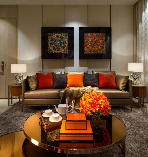 奢华现代风格客厅沙发装修效果图