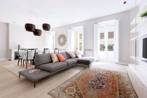 温馨现代风格休闲感客厅装修效果图