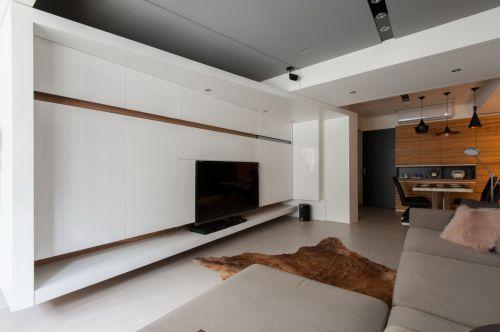 简约现代风格客厅电视背景墙装修设计