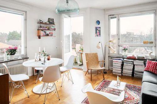 现代简约一居室客厅茶几装修效果图大全