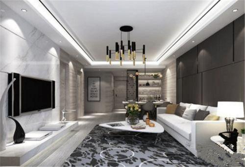 现代简约二居室客厅隔断装修效果图欣赏