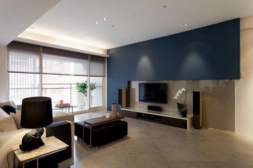 质朴现代风格客厅电视背景墙装修设计