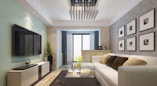 现代简约三居室客厅背景墙装修效果图大全