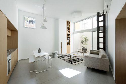 极简复式现代风格客厅背景墙装修图片