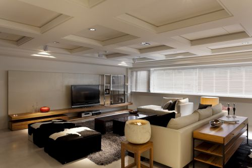 现代简约三居室客厅飘窗装修效果图欣赏