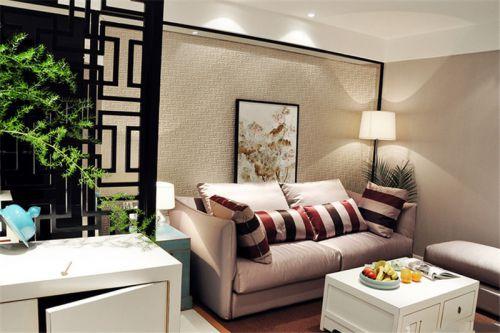 现代简约二居室客厅背景墙装修图片