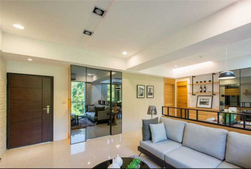 现代简约四居室客厅沙发装修效果图