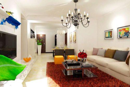 现代简约二居室客厅楼梯装修效果图欣赏