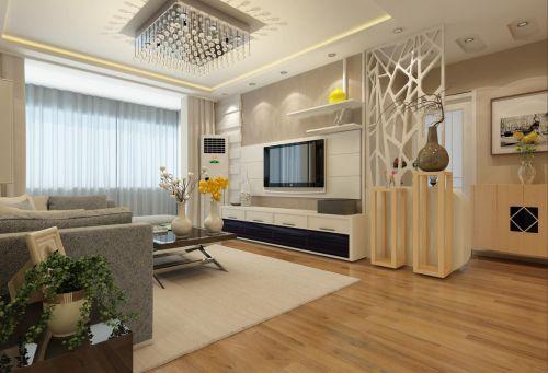 现代简约二居室客厅装修图片