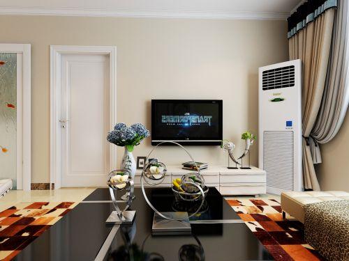 现代简约二居室客厅壁纸装修效果图大全