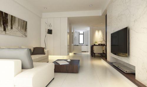 现代简约三居室客厅隔断装修效果图欣赏