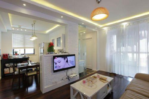 现代简约二居室客厅沙发装修效果图