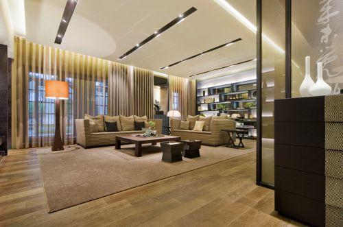 现代简约三居室客厅吊顶装修效果图