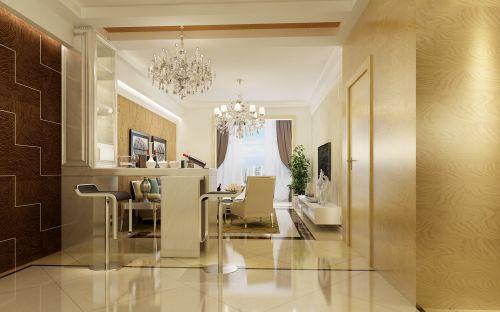 现代简约四居室客厅装修效果图欣赏