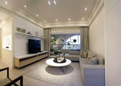 简约时尚现代风格客厅装修效果图