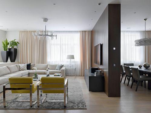 都市时尚现代风格客厅装修实景图片