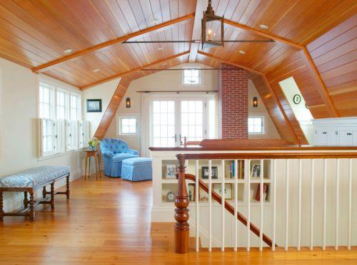 原木色大空间简欧风格客厅沙发设计