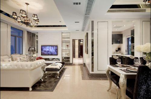 现代简欧三居室客厅装修效果图大全