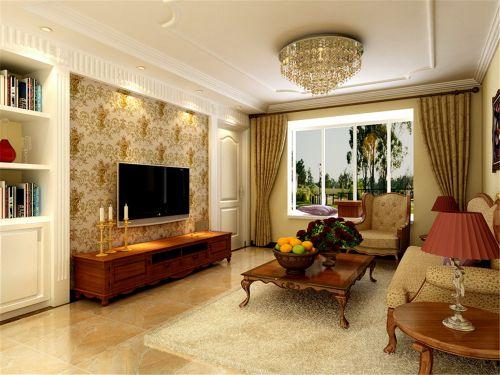简欧风格三居室客厅吧台装修效果图大全