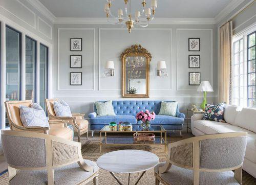 精致简欧风格客厅典雅沙发装修图片