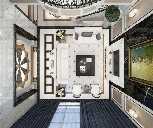 简欧风格四居室客厅隔断装修效果图欣赏