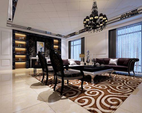 深咖奢华简欧风格客厅装修图
