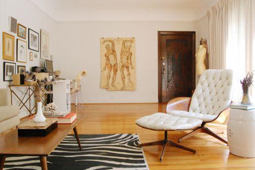 个性文艺简欧风格公寓客厅装修效果图