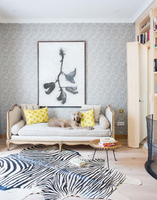 简欧风格轻奢大气客厅壁纸装修图片
