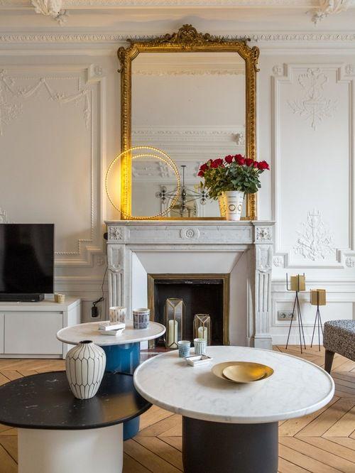 简欧风格精致优雅客厅茶几设计效果图