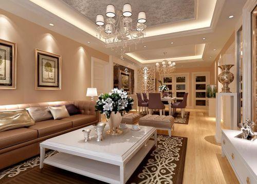 简欧风格一居室客厅装修效果图