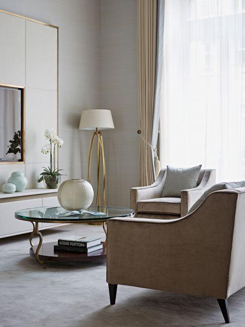 舒适温暖简欧风格客厅装修图片