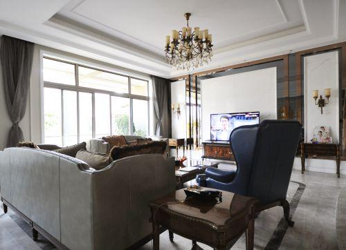 灰色调素雅简欧风格客厅装修设计