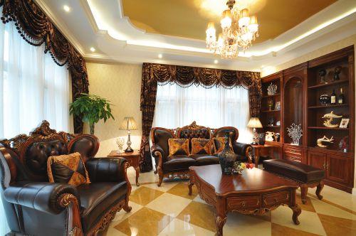 设计师甄选别墅简欧装修样板间客厅实景图