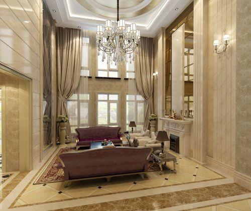 简欧风格别墅客厅装修效果图大全