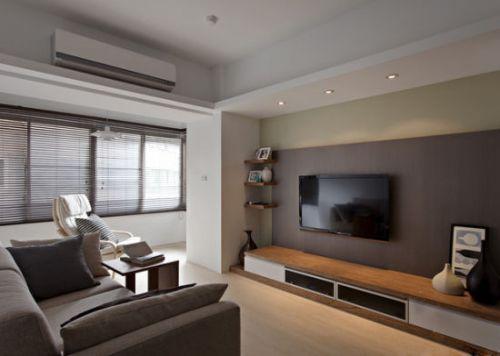 简欧风格一居室客厅吊顶装修效果图大全