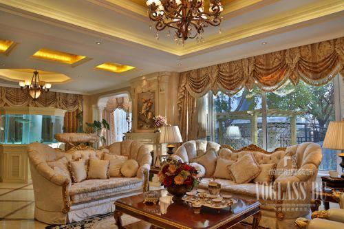 简欧风格别墅客厅飘窗装修效果图欣赏