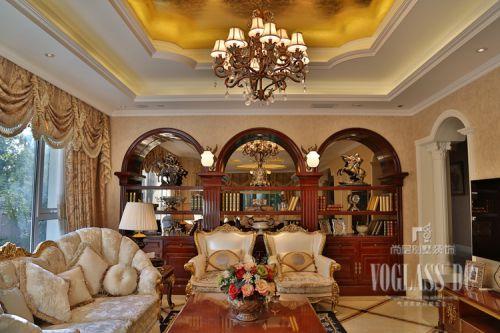 简欧风格别墅客厅橱柜装修效果图欣赏