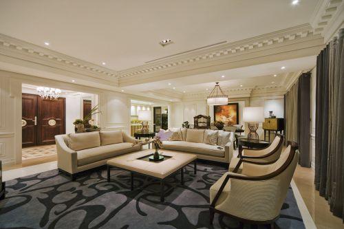 舒适整洁简欧风格客厅效果图