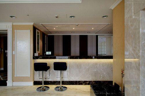 米色300平欧式风格别墅吧台效果图