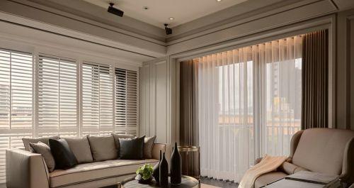 简欧时尚米色客厅装修效果图