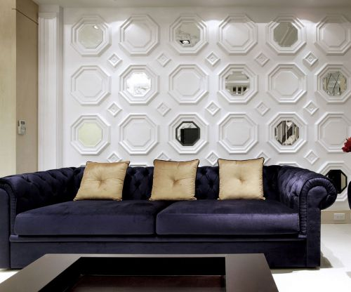 简欧风格二居室客厅沙发装修效果图大全